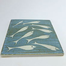 Load image into Gallery viewer, Ceramic square tile or pot stand - fish