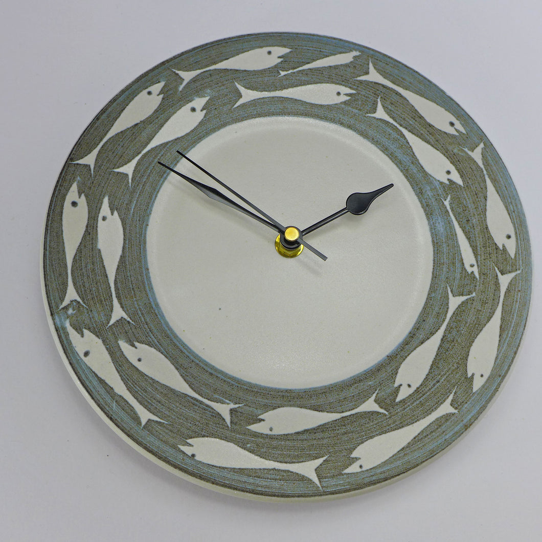 Ceramic wall clock - fish