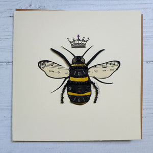 Barefoot Beachcomber handmade bee card