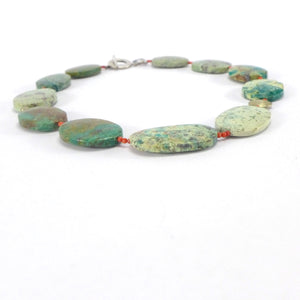 Chrysocolla coral necklace R10