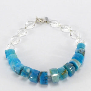 Rock crystal and dyed agate necklace R6