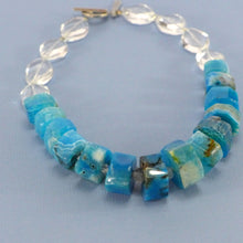 Load image into Gallery viewer, Rock crystal and dyed agate necklace R6