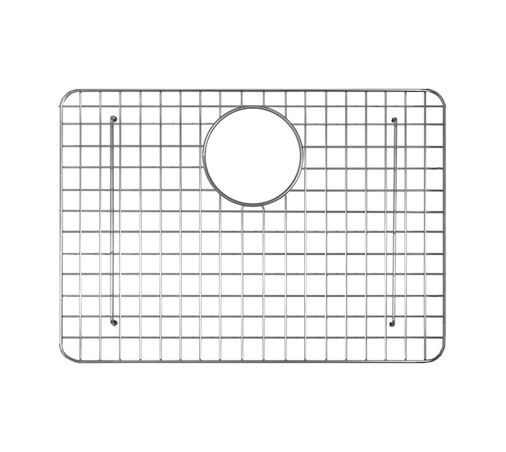 Undermount Fireclay Kitchen Sink Grid Small