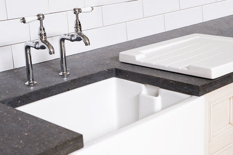 Fireclay Butler Sink Plain Drain Board