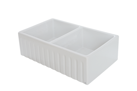 October Special 50% Off - Double Fluted Apron Sink - 830 x 500 x 250mm