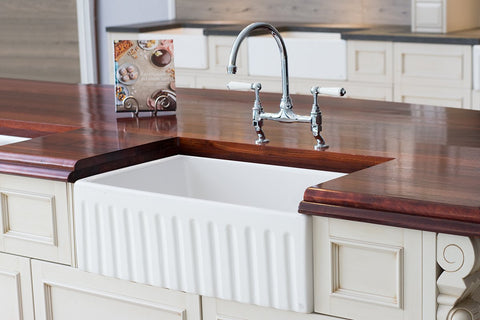 Fireclay Fluted Apron Sink