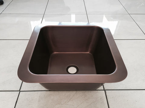 Small Copper Undermount Kitchen Sink