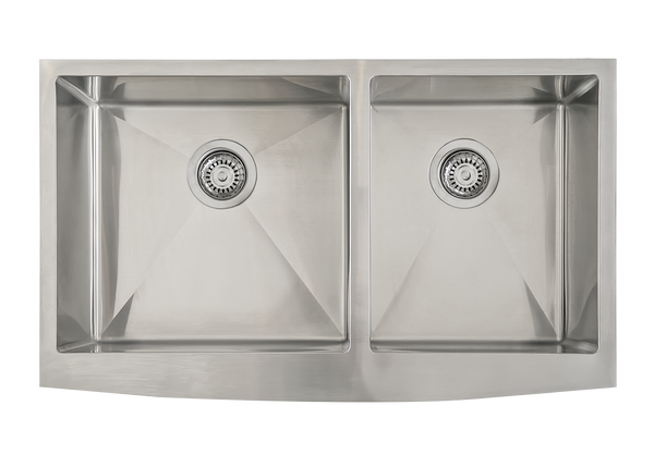 Stainless Steel Double Butler Offset Sink - 838