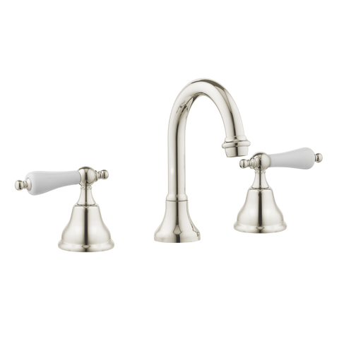 Colonial Kitchen Tapware - Goose Spout - Porcelain Lever
