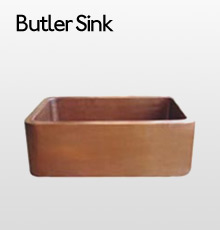 Copper Butler Sink - Large 762 x 500 x 255mm