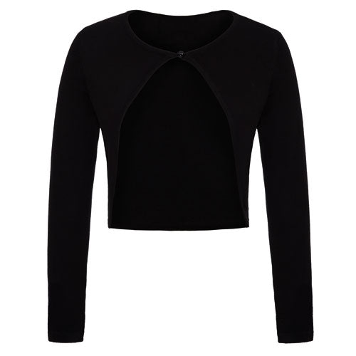 Black bolero shrug knitted cardigan.