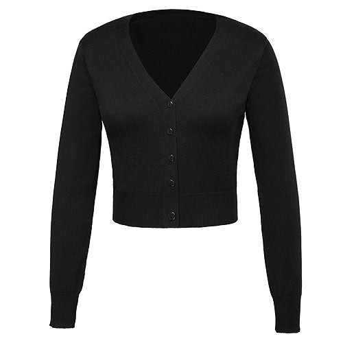 9 point v-neck knitted cardigan S - 4XL