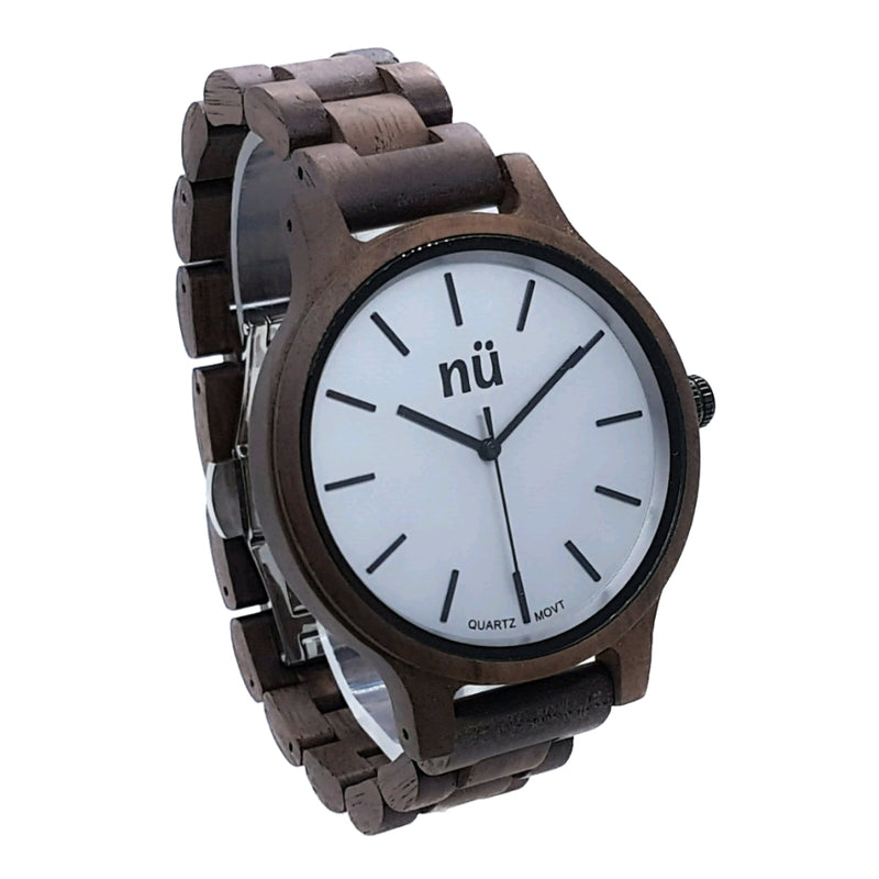 CARTER Walnut Japanese Quartz Miyota 2035 Stylish Men Watch - nuOriginals.com