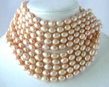 "Wholesale 10 ps 16"" 9-10mm pink pearl necklace"