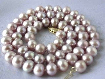 "14K 17"" lavender FW pearl necklace"