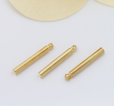 10 pcs 24k gold plated cubic stick pendant brass spacer beads  brass caps brass connector
