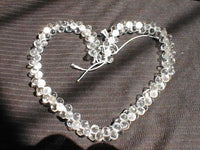 "18"" length--white crystal twist necklace"