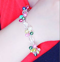 Elastic Colorful Pearl Crystal Bracelet