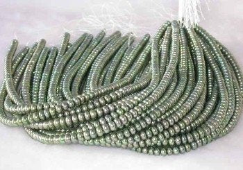 "wholesale 16"" 6-7mm green pearl necklace strings"