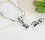 Sterling 925 silver my girl bead fits Pandora charm and European bracelet