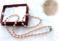 Single south sea shell Pearl & Crystal Necklace & Bracelet