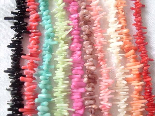 wholesale 50 strand short coral branch loose string