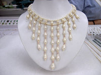 3Row 16'' Handmade ATTRACTIVE white Cultured Pearl Necklace