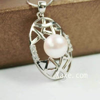 Huge pearl pendant nest sterling silver