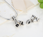 925 Sterling Silver Charm Adorable bell Bead Fits Pandora, Biagi, Troll, Chamilla and Many Other European Charm