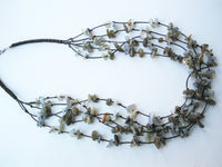 17.5'' natural old jade multistrands necklace