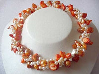 36'' 2-STR BAROQUE FRESHWATER PEARL NECKLACE