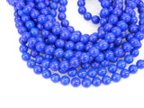 Wholesale 10pcs 16'' HUGE 12MM Blue Jade Necklace