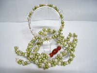 White And Green FW pearl & Carnelian Necklace Bracelet