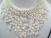 "17"" beauty 4-5mm white F/W pearl necklace"