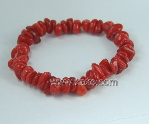 lovely red coral bracelet