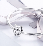 Sterling 925 silver charm cute lion bead pendant fits Pandora charm and European charm bracelet