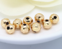 10 pcs 24k gold plated facet brass spacer beads pendants  brass caps brass bead
