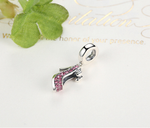 Sterling 925 silver charm high heel shoes bead pendant fits Pandora charm and European charm bracelet
