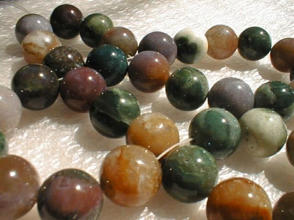 12mm natural colorful jade beads necklace