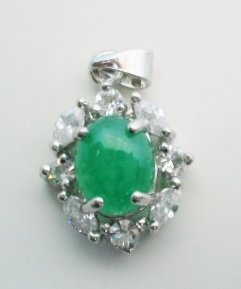 15x20mm green jade pendant