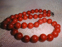 10mm 41 garnet beads/necklace