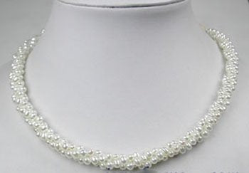 3-Strand 4.5mm White Freshwater Pearl Necklace