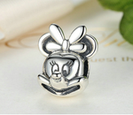 Sterling 925 silver charm beauty Minnie bead pendant fits Pandora charm and European charm bracelet