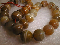 "18"" natural agate 14mm beads/necklace"