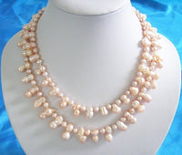 14mm Double strands Peanut Fresh Water Pearls necklace