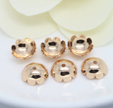 10 pcs 24k gold plated brass caps brass bead brass spacer Bronze Bead Caps