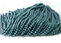 "wholesale 16"" 6-7mm dark blue pearl necklace strings"