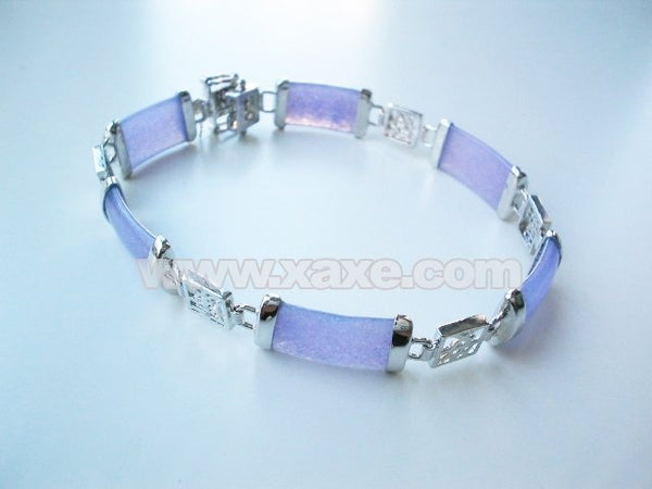 7.8'' 10x20mm purple jade bracelet