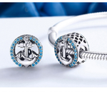 Sterling 925 silver charm the anchor bead pendant fits Pandora charm and European charm bracelet