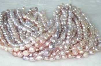 "wholesale Baroque 16"" purple pearl necklace strings"